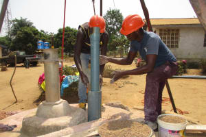 The Water Project: Tholmossor, Amputee Camp -  Drilling