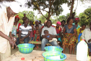 The Water Project: Tholmossor, Amputee Camp -  Handwashing Demonstration