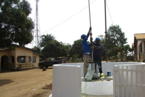 The Water Project: Tholmossor, Amputee Camp -  Pump Installation