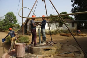 The Water Project: Tholmossor, Amputee Camp -  Yield Test