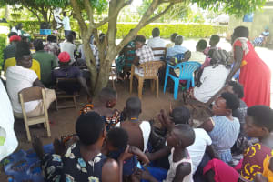 The Water Project: Kimigi Kyamatama Community -  People Participate In Activities