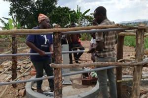 The Water Project: Kimigi Kyamatama Community -  Pump Installation