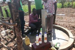 The Water Project: Kimigi Kyamatama Community -  Shock Chlorinating The Well