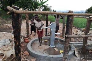 The Water Project: Kimigi Kyamatama Community -  Well