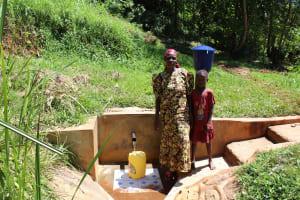 The Water Project: Jivovoli Community, Gideon Asonga Spring -  Mrs Gladice Wangwa