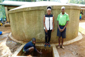 The Water Project: Shitsava Primary School -  Field Officer Georgina Kamau With Students