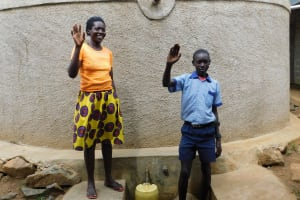 The Water Project: JM Rembe Primary School -  Kenya Karen Awino And William Otieno