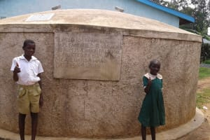 The Water Project: Mulwakhi Primary School -  Posing With The Tank