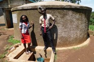 The Water Project: Erusui Secondary School -  Teacher Mrs Gloria Tsindoria And Student Calvar Alionya