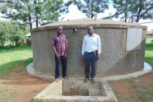 The Water Project: St. Stephen Maraba Secondary School -  Principal Dominic Ongeri Right With Field Officer Samuel Samidi