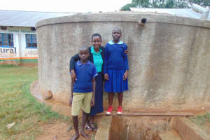 The Water Project: Shina Primary School -  Field Officer Rose Serete With Students