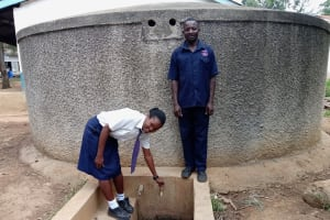 The Water Project: Essaba Secondary School -  Student Alice Andeyo And Chief Chef Patrick Otakwa