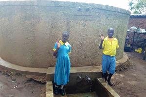 The Water Project: Eshilibo Primary School -  Centrine Naliaka And Chrisantus Injusi