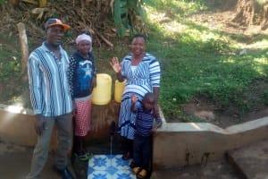 The Water Project: Mwichina Community, Mwichina Spring -  Nathan Jane And Betty