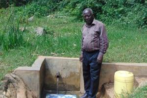 The Water Project: Lwenya Community, Warosi Spring -  Mr Josh Luvembe