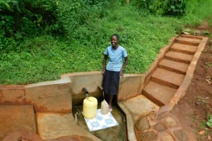 The Water Project: Emwanya Community, Josam Kutsuru Spring -  Christine Musungu