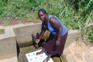 The Water Project: Mwituwa Community, Nanjira Spring -  Grace Oleyi