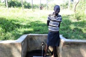 The Water Project: Ingavira Community, Laban Mwanzo Spring -  Rael Nyarotso