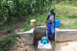 The Water Project: Masera Community, Salim Hassan Spring -  Agatious Likami