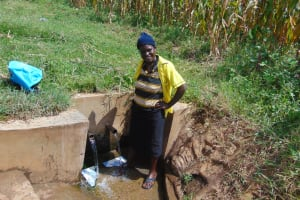 The Water Project: Burachu B Community, Shitende Spring -  Everlyn Okumu