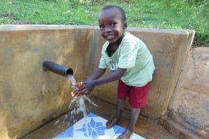 The Water Project: Mbande Community, Handa Spring -  Fabian Mkea