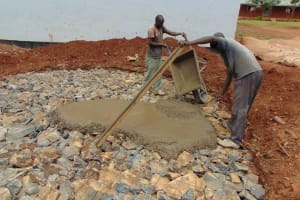 The Water Project: Ikumba Secondary School -  Pouring Cement