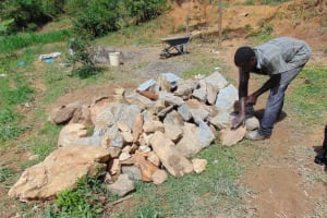 The Water Project: Shihingo Community, Inzuka Spring -  Collecting Materials