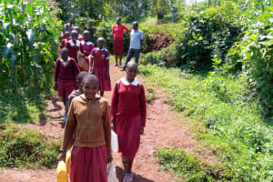 The Water Project: Ebukhuliti Primary School -  Teachers Accompany Students To Spring