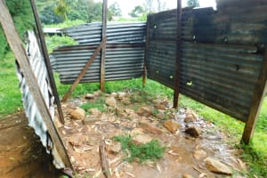 The Water Project: Kapkures Primary School -  Urinal Pit