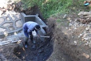 The Water Project: Eshikhugula Community, Shaban Opuka Spring -  Staircase Excavation