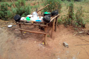 The Water Project: Shihingo Community, Inzuka Spring -  Dishes Drying