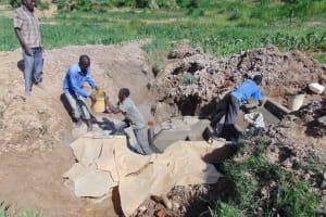 The Water Project: Shihingo Community, Inzuka Spring -  Stairwell Construction