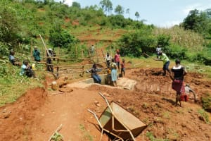 The Water Project: Mutao Community, Kenya Spring -  Site Clearance After Construction