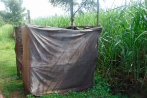 The Water Project: Mukangu Community, Metah Spring -  Bathroom
