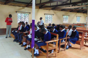 The Water Project: Ikumba Secondary School -  Student Answers A Question