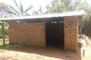 The Water Project: Bukhaywa Community, Ashikhanga Spring -  Cow Shed