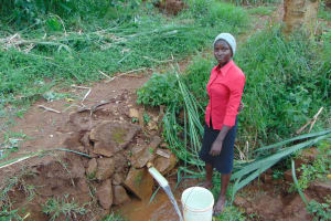 The Water Project: Namarambi Community, Iddi Spring -  Filled Bucket