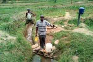 The Water Project: Shihingo Community, Inzuka Spring -  Alphonce Musirwa At The Spring