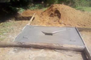 The Water Project: Shihingo Community, Inzuka Spring -  Sanitation Platform Drying