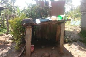 The Water Project: Bukhaywa Community, Ashikhanga Spring -  Dishes Drying