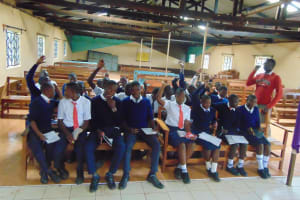 The Water Project: Ikumba Secondary School -  Students Volunteer