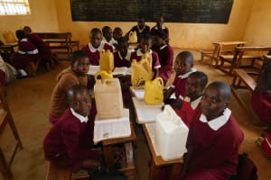 The Water Project: Ebukhuliti Primary School -  Students Back In Class With Water