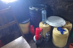 The Water Project: Mwichina Primary School -  Water Storage In Kitchen