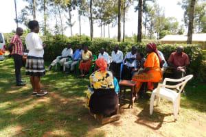 The Water Project: Shihingo Community, Inzuka Spring -  Training Begins