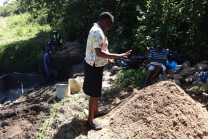 The Water Project: Eshikhugula Community, Shaban Opuka Spring -  Field Officer In Action