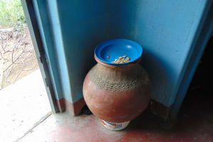 The Water Project: Bukhaywa Community, Ashikhanga Spring -  Drinking Water Storage In Traditional Clay Pot