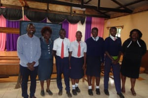 The Water Project: Ikumba Secondary School -  Teachers And Elected Student Health Club Leaders