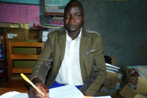 The Water Project: Kapkures Primary School -  School Chairperson Mr David Mbacha
