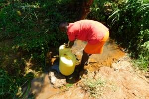 The Water Project: Ewamakhumbi Community, Mukungu Spring -  Filling Up