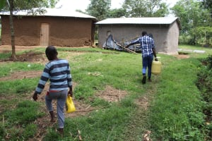 The Water Project: Kalenda B Community, Lumbasi Spring -  Almost Home With Water